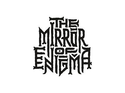 the mirror of enigma lettering music show logo enigma mirror