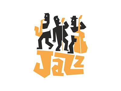 Jazz music illustration design vector logo