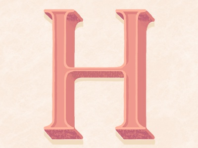 H is for? h alphabet hangover process handlettering postercard type morning disco night