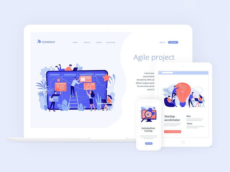 IT illustrations for all kinds of screens visual storytelling concept uikits landing page vector ui elements ui design ui illustration