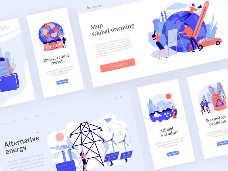 Ecology kit - FREE PNG DOWNLOAD ux free download freebie vectors concept uikits environment ecology ui ui elements vector illustration