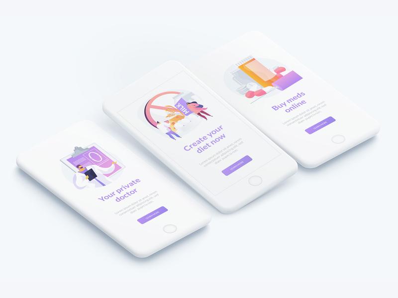 Healthcare vector illustration kit app design onboarding web design medical concept hospital healthcare ui elements illustration vector uiux ui