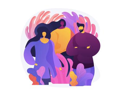 Team. Animated concept illustration concept uiux ui design vector animated animation illustration ui element web