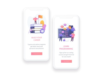 Vector illustrations for education apps app development uikits web design uiux graphic design storytelling metaphor illustration vector ui elements app design concept