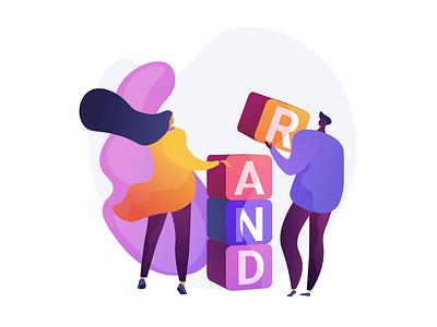 Branding. Vector animation for UI graphic design web design ux concept illustration concept vector ui ui elements illustration