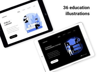 Blue Ink illustrations uiux concept illustration storytelling ux graphic design uikits concept ui ui elements illustration
