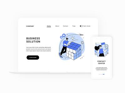 Business illustration set app design landingpage webdesign metaphor concept ui element ui design uiux vector illustration illustration business