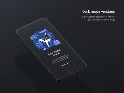 Blue Ink development illustration set onboarding flat uiux ui ui elements vector concept illustration