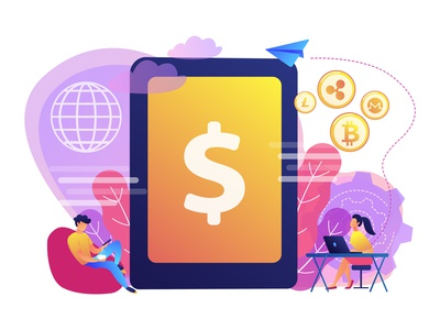 Digital currency concept illustration