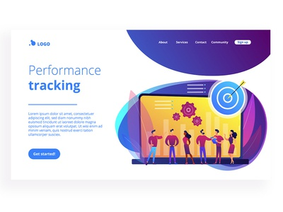Performance Tracking landing page template