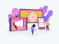 Multi Device Targeting Concept Illustration