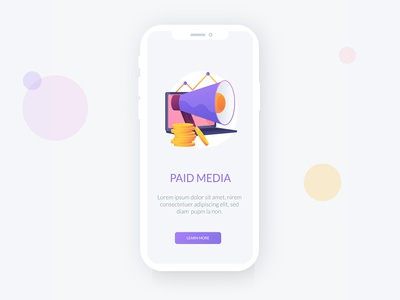 Paid Media vector metaphor