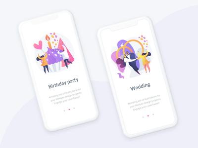 Lifestyle vector illustration kit