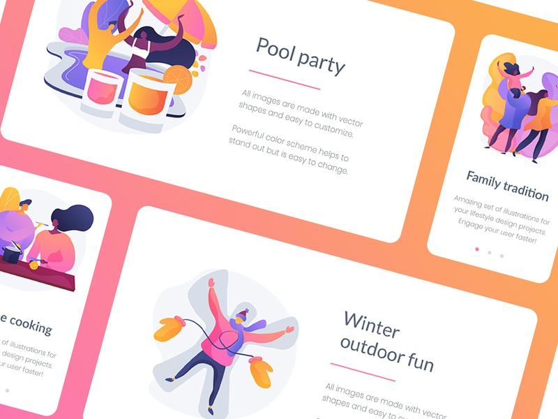 Lifestyle illustration kit