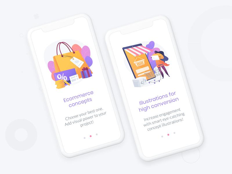 E-commerce illsutration pack ecommerce shop shopping app e-commerce marketing sale concept design web vector uidesign ui graphic design illustration ecommerce ecommerce app
