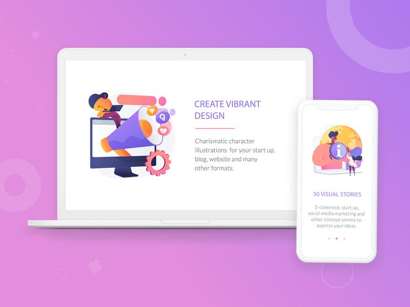 E-commerce and marketing illustrations digital marketing ecommerce design online shop shopping app ecommerce app ecommerce character abstract vector adobe illustrator illustrator ui concept