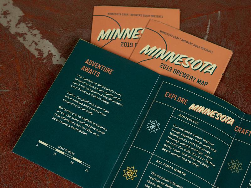 MNCBG Brewery Map 1.3 folded beer minnesota brewery map brochure identity brand print design graphic