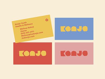 Konjo Unused 1.3 youth yoga brand identity layout print mock up mockup card business design graphic