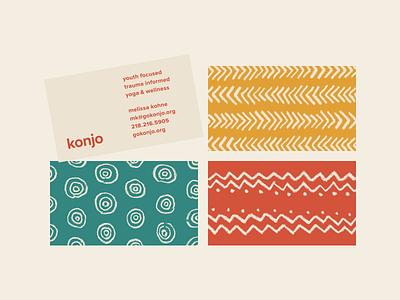Konjo Final 3.3 konjo youth yoga pattern mock up card business card print identity brand design graphic