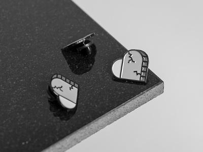 Stone Hearts Club logo icon product enamel pin badge badge buttons enamel pin pin stone hearts identity brand design graphic