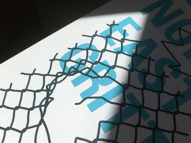 56 Brewing Poster Show typography chain link fence print minneapolis silk screen screen print posters poster design graphic