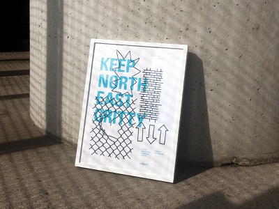 Grit Poster exhibition typography illustration framed art fine art art screen print print posters poster design graphic