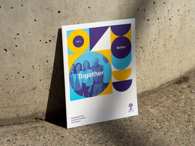 Better Together 1.1 layout cover brochure layout printed geometric shapes photography brochure print design graphic