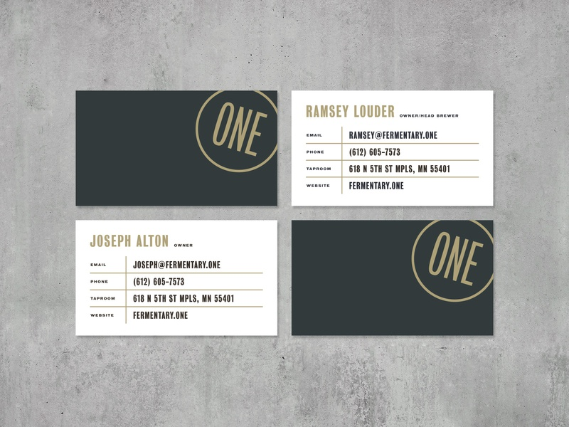 One Fermentary & Taproom 4 identity brand identity brand typography industrial badge vintage concrete business card mockup taproom fermentary one businesscard print design graphic