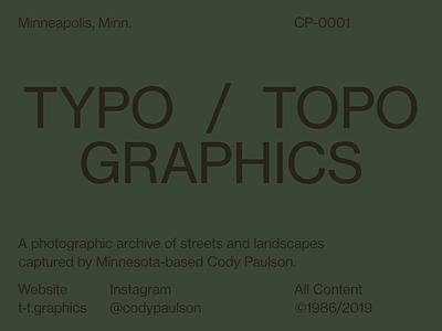 Typo / Topo Graphics topographics typographics neue haas grotesk typography type identity brand design graphic