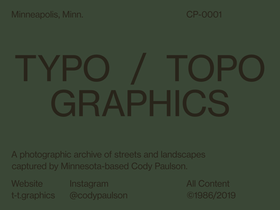 Typo / Topo Graphics