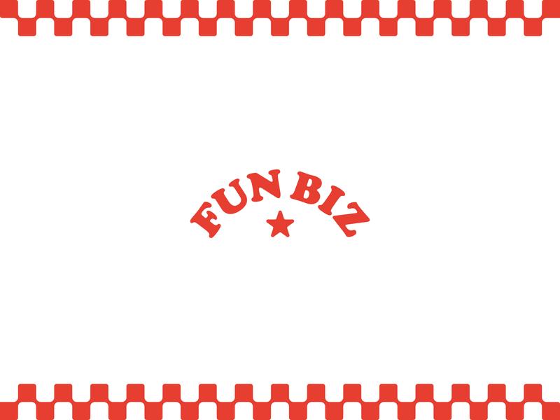 Fun Biz 1.2 food concessions fair fun biz letterhead business card mock ups stationery system badge mark logo identity brand design graphic