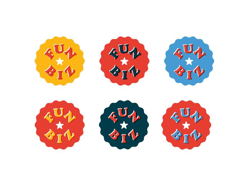 Fun Biz 1.3 concessions fair stamp circle mark logo identity brand badges design graphic