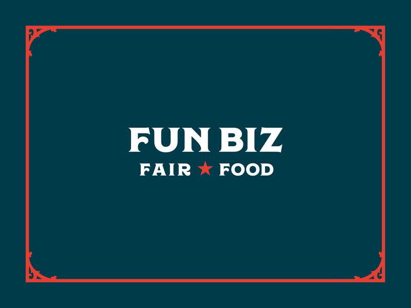 Fun Biz 2.1 regina star frame vintage circus victorian concessions food fair identity brand design graphic