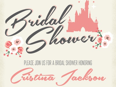 Vintage Disney Bridal Shower Invite