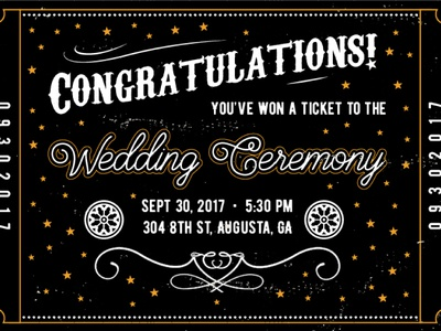 Night Circus Wedding Invite