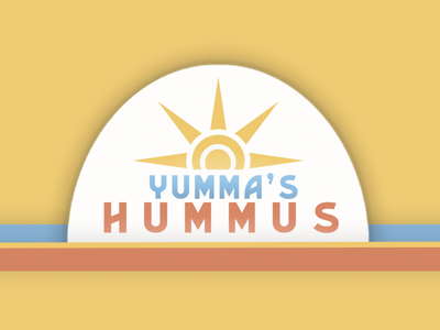 Yumma's Hummus Logo Design visual design product design logo concept 99designs logo design logo graphic design