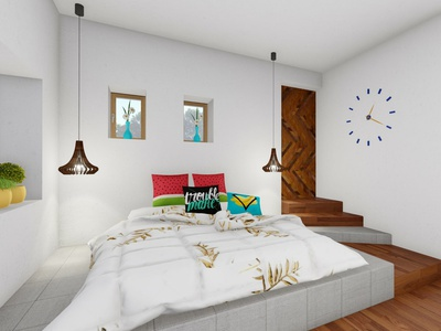Contemporary bedroom Decor bedroom concept architecture design aesthetic 3d visulization theme interior false ceiling ambiance interior design idea interior design home decor architecture