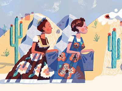 Tule, published by Ate con queso. biznaga tehuana oaxaca illustration children book illustration children books ateconqueso tule