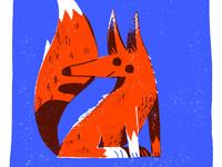 I saw a fox today.