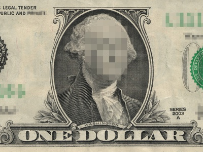 Privacy is the New Currency privacy currency censor blur pixel dollar george money