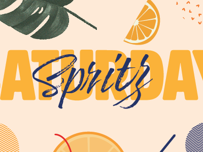 Saturday Spritz Campaign saturday summer spritz aperol orange