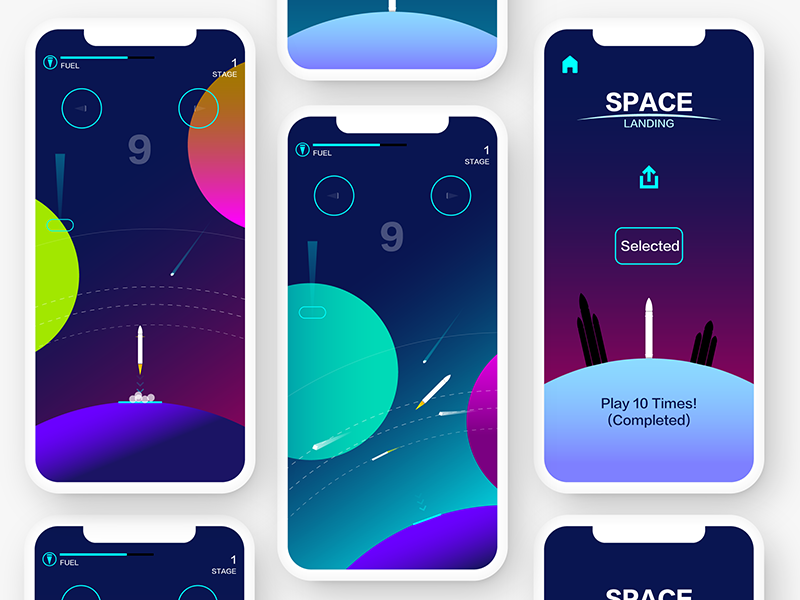 SPACE  GAMES UI ui game gui space planet lonely illustration