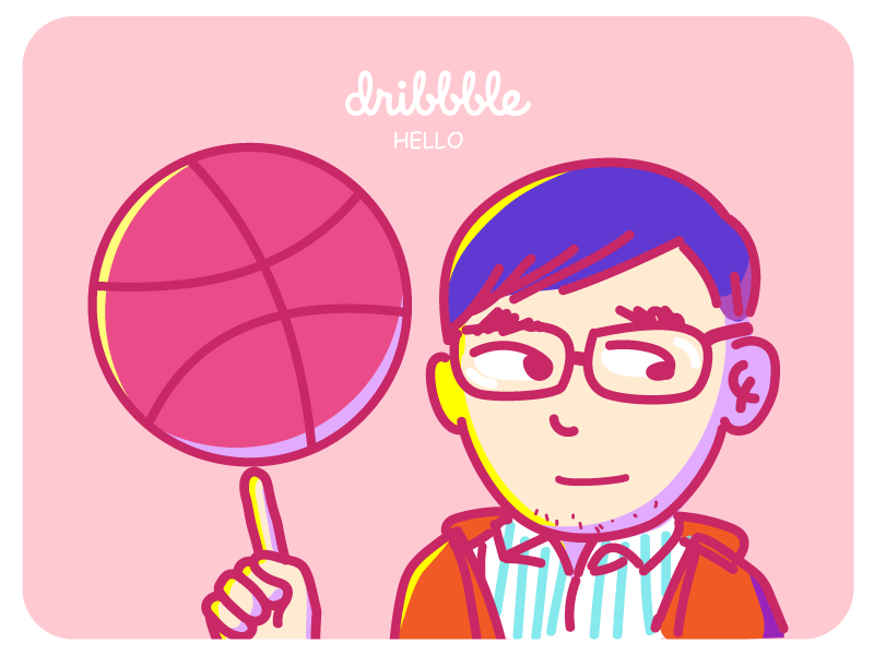 dribbble & me me invite hello