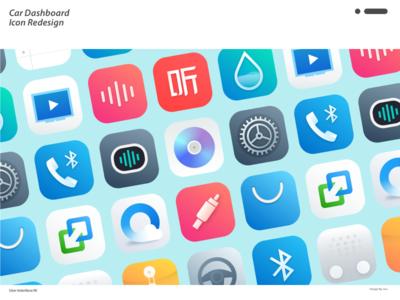 Car Dashboard  Icon Redesign