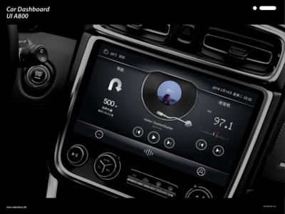 Car Dashboard UI A800