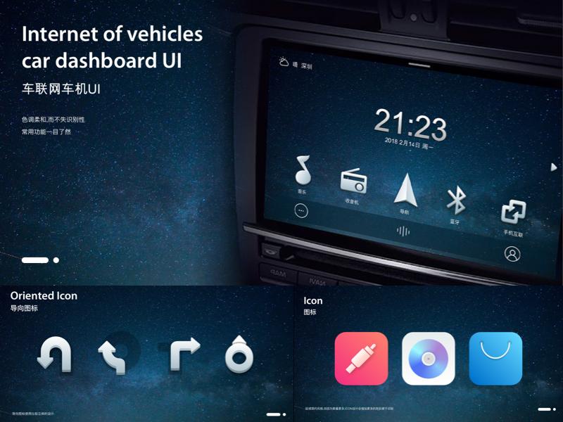 Car Dashboard icon ui