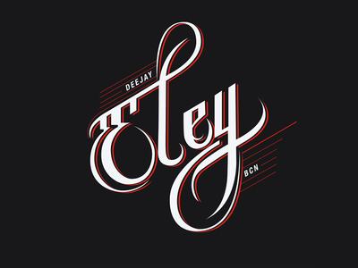 Dj Logo letters rap hip-hop barcelona ben eley dj logo