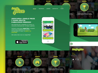 Landing page Jungle Prize mask run mask play win prizes mobile app ios landing page game jungle prize