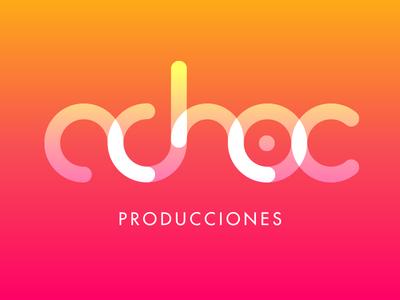Adhoc logo adhoc producciones productions gradient logo color material logo design logo