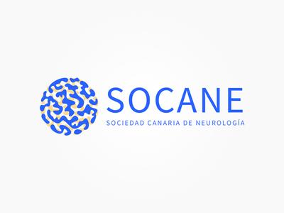 Neurology logo blue canary islands head science society canary socane brain mind neurology